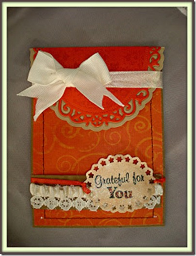 Grateful for you Envelope card