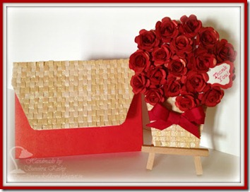 Rose Basket Card with Envelope