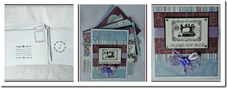 Vintage set of cards Collage